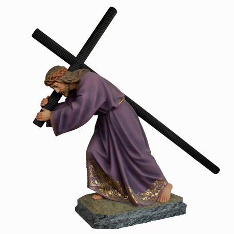 JESUS  CON LA CRUZ A CUESTAS 80CMS 2N