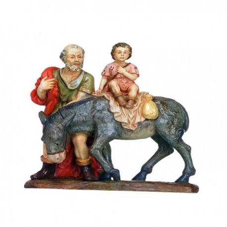 PASTOR con borrico y niño