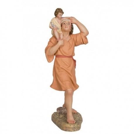 HEBREO con niño a cuestas