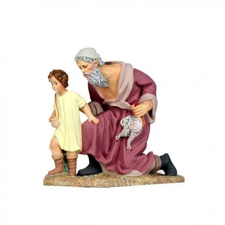 PASTOR con niño arrodillado