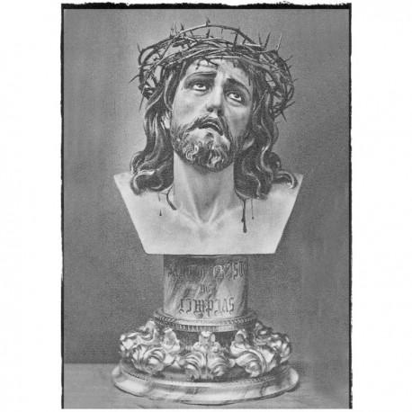 CRISTO DE LIMPIAS, BUSTO (corona de espinas natural)