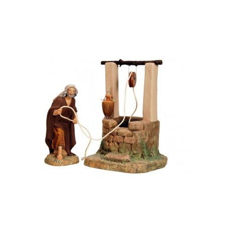 HEBREO sacando agua del pozo