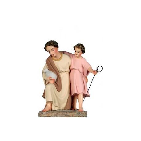 HEBREA adorando con niño