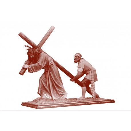JESUS CON EL CIRINEO